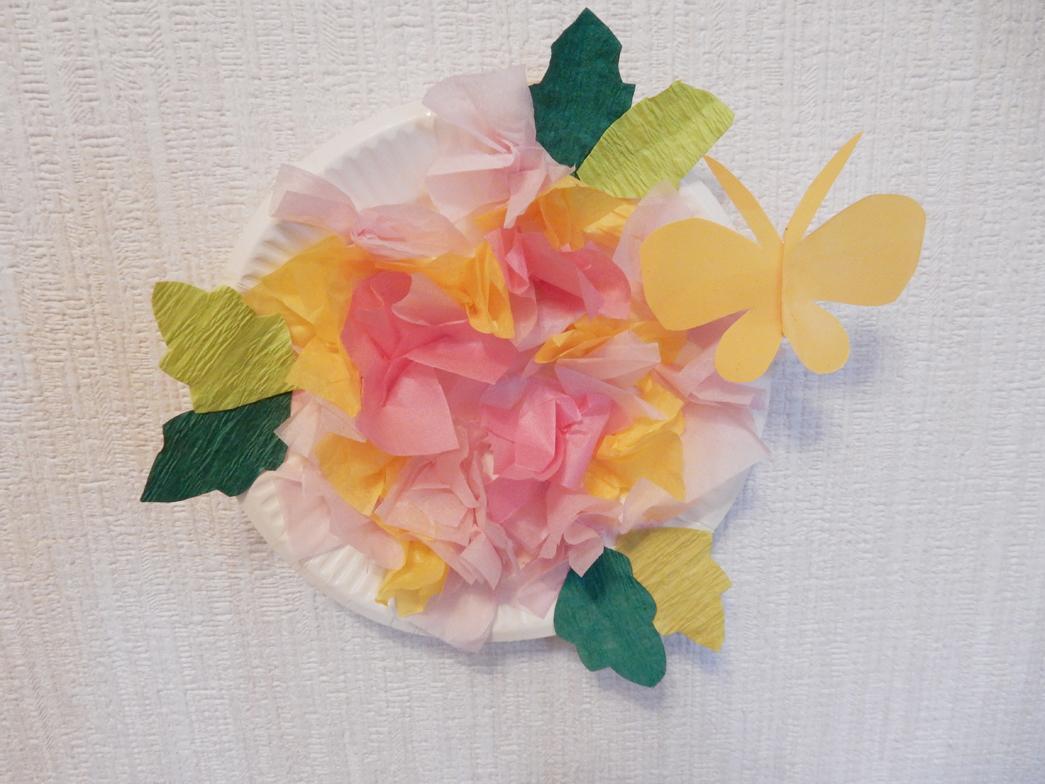 紙 ちょうちょ お花